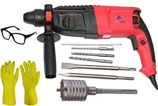 Tools Centre Heavy Duty Hammer Drill 26MM Rotary Hammer Drill Machine With Concrete Holesaw.