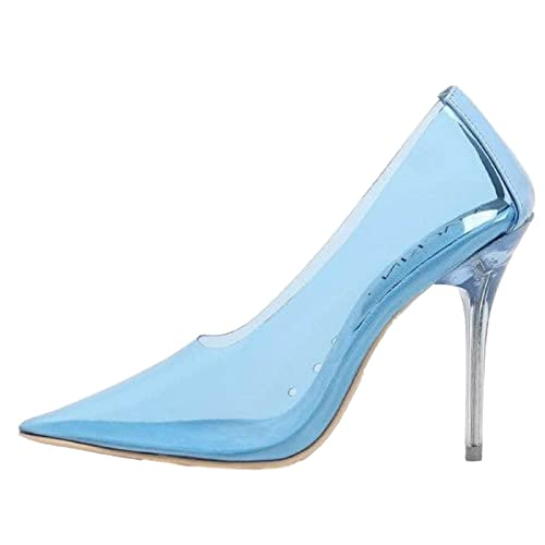 a28c3766b1 Mackin J 260-1 Transparent Clear Lucite PVC Pointed Pointy Toe Stiletto  High Heel Pump