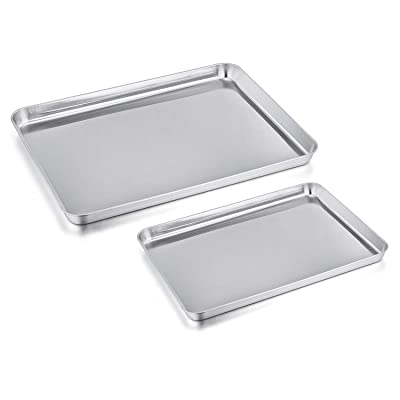 Toaster Oven Pan Tray Set of 2, PP CHEF Stainle...