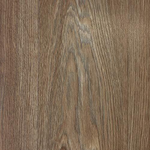 PVC-Boden Paneele im Landhausdielen-Stil in Walnuss Optik | Vinylboden 2m Breite & 6m Länge | Fußbodenheizung geeignet | PVC Platten strapazierfähig & pflegeleicht er Fußboden-Belag