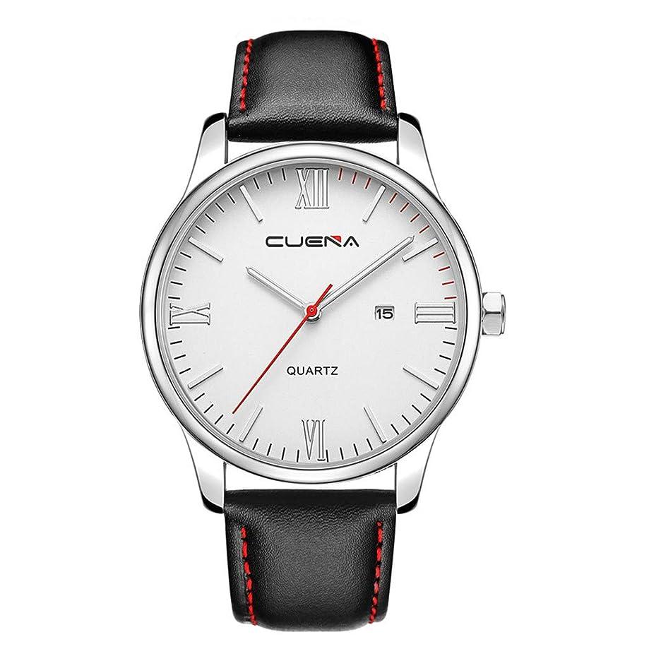 Pandaie Men's Watches Luxury Fashion Analog Quartz Watch Blue Glass Leather Wrist Watch Mit Calendar