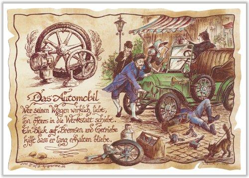 Die Staffelei Geschenk Kfz Mechaniker Mechatroniker Automobil Zeichnung Color 20 x 15 cm