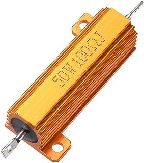 Sourcingmap - Resistencias de carga de aluminio, 50 W, 100 Ohm, 5% aluminio, para carcasa, resistencias de carga, color dorado