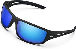 TOREGE Polarized Sports Sunglasses for Men Women Cycling Running Driving Fishing Golf Baseball Glasses GRILAMID TR90 Frame...