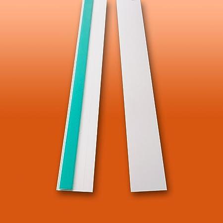 Fensterleiste Flachprofil PVC selbstklebend 20mm Breit 5m lang Abdeckleiste