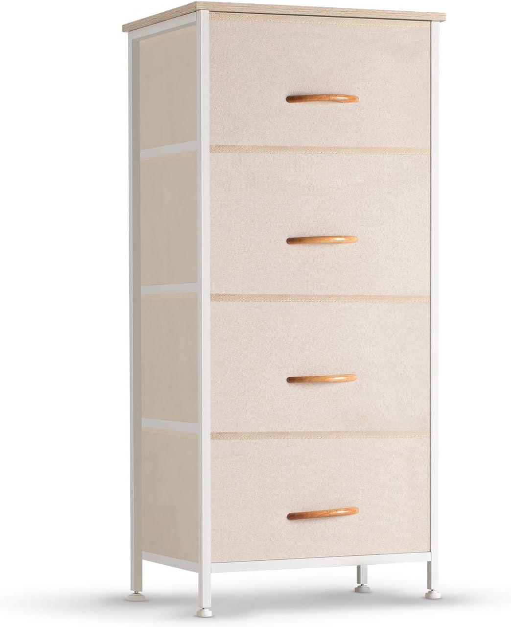 COSYLAND 4 Drawer Dresser Storage Over item handling ☆ Organizer Fabric S Max 90% OFF Unit Tower