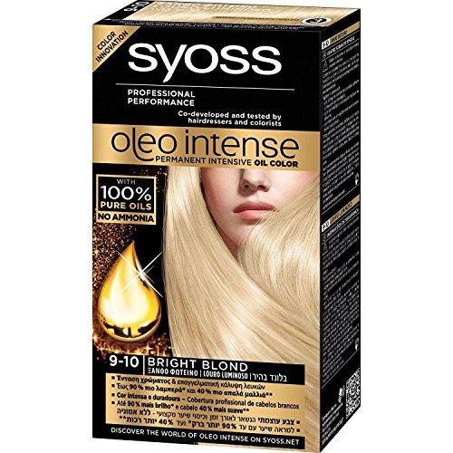 SYOSS Oleo Intense Haarfarbe 100% Pure Oils 0% Amonia 9-10 Bright Blond