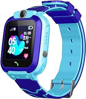 キッドスマート腕時計の電話 - GPSトラッカースマートウォッチ、SOSコールトーチとセキュアタッチスクリーンスマートウォッチの子,ブルー