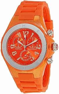 Michele Women's Jelly Bean Orange Rubber Watch