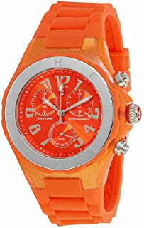 Michele Women's Jelly Bean Orange Rubber Watch