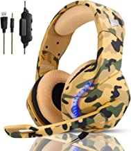 Best PS4 Gaming Headset with 7.1 Surround Sound, Xbox One Headset with Noise Canceling Mic & LED Light, PHOINIKAS H3 Over Ear Headphones, Compatible with Nintendo Switch, PC, PS4, Xbox One, Laptop (Camo) Review