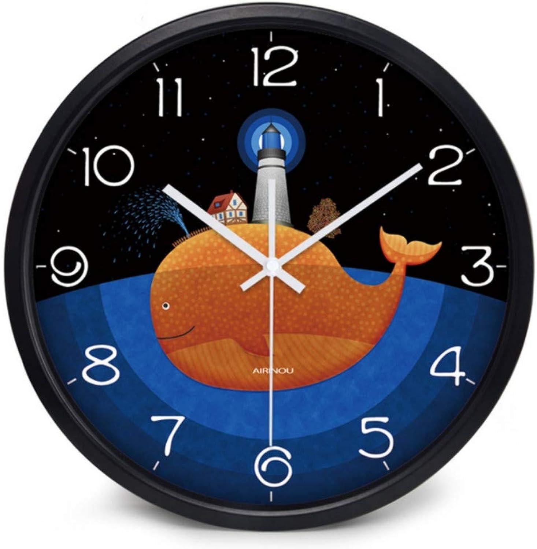seguro de calidad Mzdpp Sea Dolphin Lighthouse Habitación De Niños Sala De De De Estar Metal Vidrio Reloj De Parojo 10 Pulgadas Zgh0162  marcas en línea venta barata