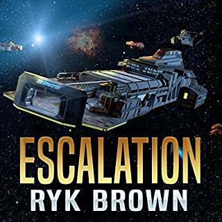 Escalation     The Frontiers Saga Part 2: Rogue Castes              By:                                                                                                                                 Ryk Brown                               Narrated by:                                                                                                                                 David Drummond                      Length: 8 hrs and 26 mins     66 ratings     Overall 4.2