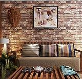 壁紙シール ウォールステッカー レンガ柄 はがせるタイプ 45cm×10m リフォーム ウォールステッカー 防水 (US レンガ)