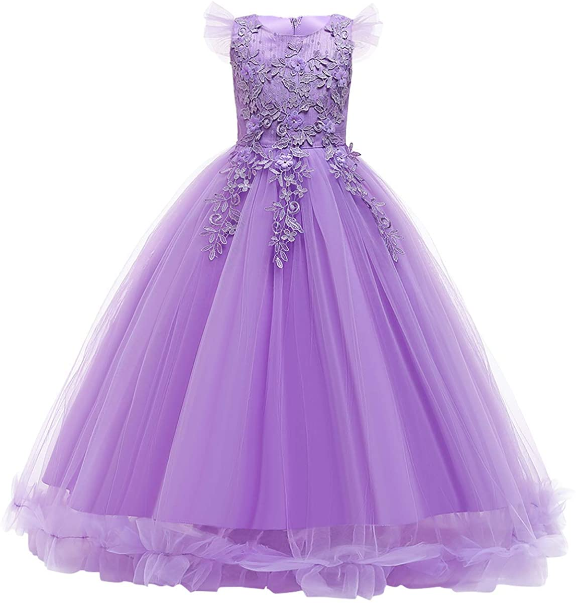 Girls Lace Jacksonville Mall Pageant Party Dress Wedding Gowns Girl Ranking TOP19 Flower Maxi Fl