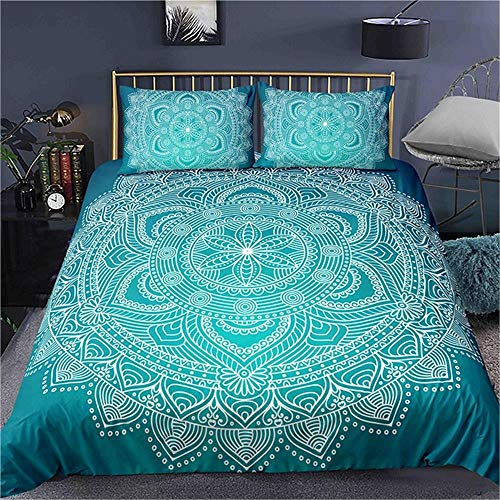 MENGBB Kids 3D Quilt Cover Religion pattern art pattern 230x220cm Total 4 Size, give away pillowcase, Duvet Cover with 2 Pillowcases 3D Printed Bedding Set with Zipper Closure Unique Design Anti-alle