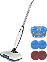 Comfyer Swift Cordless Electric Spin Mop, Floor Cleaner Mop, 2 in 1 Power Scrubber Brush & Polisher with Microfiber Reusable Pads and Water Spray for Hard Wood, Tile, Vinyl, Marble, Laminate Floor