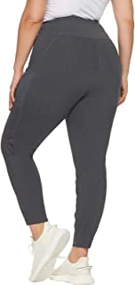 Hanna Nikole Plus Size High Waisted Yoga Pants with Pockets, Tummy Control Workout Yoga Leggings