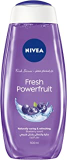 NIVEA Fresh Powerfruit Shower Gel, Antioxidants, Blueberry Scent, 500ml