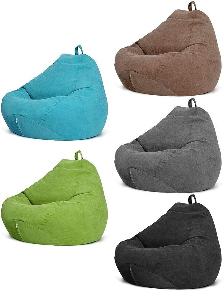 for Kids and Adults Stuffed Storage Bean Bag Chair Cover 47x39 No Filler Extra Large Soft Premium Corduroy Beanbag Stuffed Animal Storage for Organizing Children Plush Toys