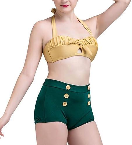 CHENGXIAOXUAN Mme L'Europe La Mode Conservateur Maillots De Bain Sexy Taille Haute Maigre Bikini Split Maillots De Bain Extensible