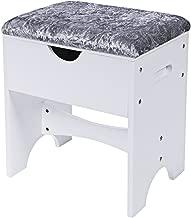 Best white vanity stool with storage Reviews