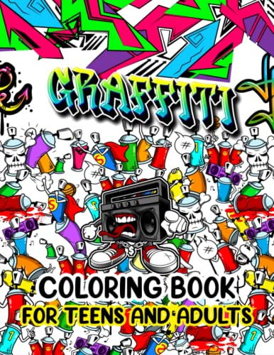 Compare Textbook Prices for Graffiti Coloring Book for Teens and Adults: An Adult Coloring Book Featuring 50 Fun and Relaxing Coloring Pages With with Graffiti Street Art Such As Letters, Drawings, Fonts, Quotes and More  ISBN 9798750645886 by Press, Busy Kiddo