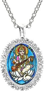 saraswati symbol pendant