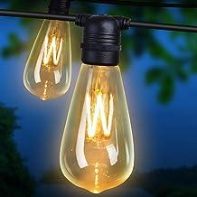 Festoon Light LED String 50M 50 Bulbs Halloween Christmas Waterproof Outdoor Lighting Decoration Jingle Jollys Xmas Holida...