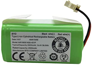 AnhoTech Replacement Battery Compatible with Ecovacs Deebot N79S, 500, N79, DN622 and Eufy RoboVac 11S, 30, 30C Robot Vacu...