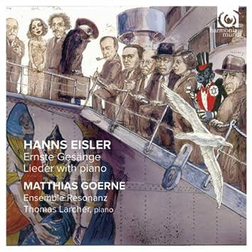 Hanns Eisler: Ernste Gesänge - Lieder with piano