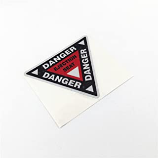 DXYMOO 2PCS Funny Warning Danger Ejection SEAT Car Stickers Motorcycle Vinyl Decals 10x8.7cm (C)