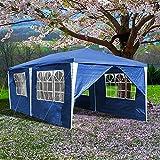 Clanmacy Pavillon 3x6m Wasserdicht Partyzelt Stabiles Partyzelt Festzelt Material PE-Plane mit 6 Seitenteilen für Garten Party Familientreffen