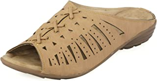 Khadims Women Beige Casual Mule Sandal