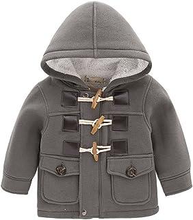 LadayPoa Fashion Winter Children Kids Baby Boys Infant Outerwear Coat Baby Kids Boys Jacket Coat 2-6Years Grey 2t