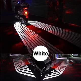 CLighting LED Motorcycle Lights Kit Angel Wings Lamp for Car Motorcycles Jeep Trucks Off Road Bicycle Kawasaki Harley ATV SUV Vehicle Boat (White)