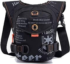 G-fun GFun Waterproof Waist Fanny Pack Messenger Shoulder Drop Leg Bag Tactical Military Thigh Hip Outdoor Pack with Earphone Hole Travel Hiking Climbing Cycling for Men