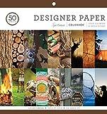 Colorbok Designer Paper Pad, 12' x 12', Multicolor