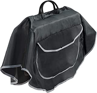 Purse Poncho – Keeps Handbag Dry in any Weather – Durable Rainproof Nylon – Built-in Pocket – Microfiber Pocket for Wet Umbrella – Easy Hook & Loop Top Closure