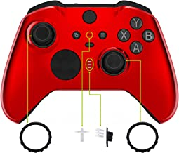 eXtremeRate Capa para placa frontal brilhante edição vermelha, kit de substituição para Xbox One Elite Series 2 controle m...
