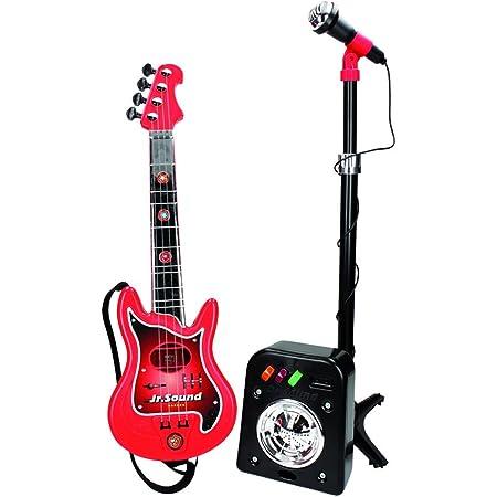 REIG - 844 - Ensemble Guitare Électrique À 4 Cordes + Flash Micro + Baffle