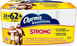 Charmin Essentials Strong 1-Ply Bathroom Tissue, White, 300 Sheets Per Roll, Pack of 24 Rolls