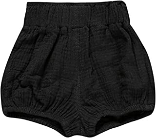 JELEUON Little Baby Girls Boys Cotton Linen Blend Cute Bloomer Shorts