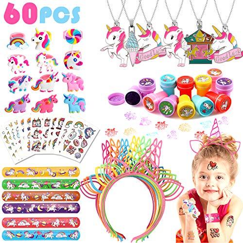 60 Pack Unicorn Party Favors & Supplies