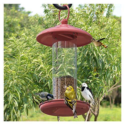 DOPORA Alimentador Colgante para pájaros Salvajes, alimentador de plástico para pájaros, Exterior de 40 onzas para decoración de jardín Resistente a la Intemperie al Aire Libre