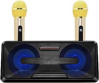 FMOGE Inalámbrico Bluetooth Audio Home Ktv Micrófono Portátil Al Aire Libre Teléfono Móvil Bluetooth Audio Karaoke Machine...