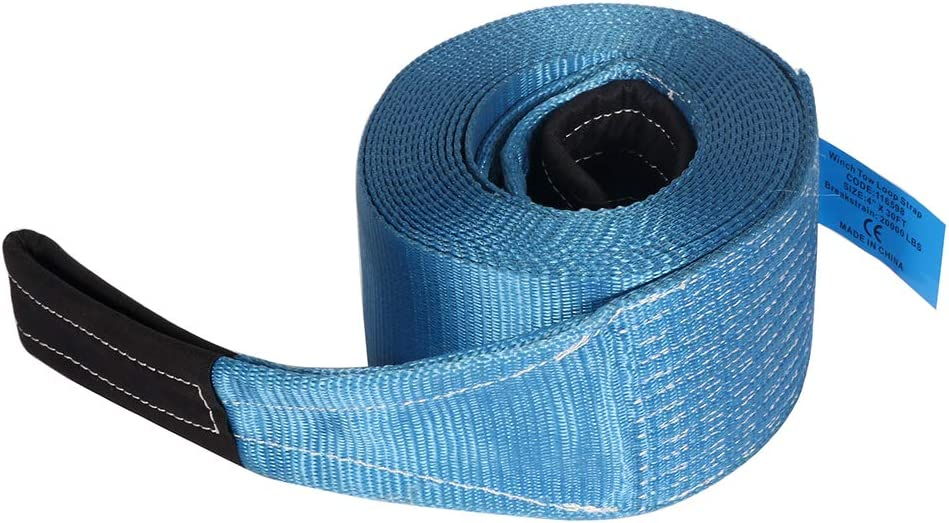 Tow Strap Lowest price challenge Soft Loop Tie Finally popular brand Down 20000 Capacity with Blue LBs