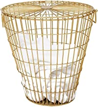 Multifunctional storage dirty clothes basket, dirt Laundry basket Nordic Wrought Iron With A Hamper, Household Clothes Storage Basket Dirty Clothes - Laundry Storage Basket (Color Toy clothes storage