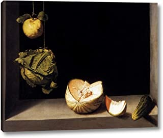 Still-Life with Quince, Cabbage, Melon and Cucumber by Juan Sanchez Cotan - 12