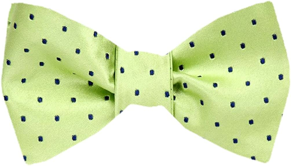 FBTZ-1555 - Men's Silk Self Tie Bowtie Tie Yourself Bow Ties